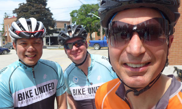 Cycle for Sight, with Michael Stokely on the right
